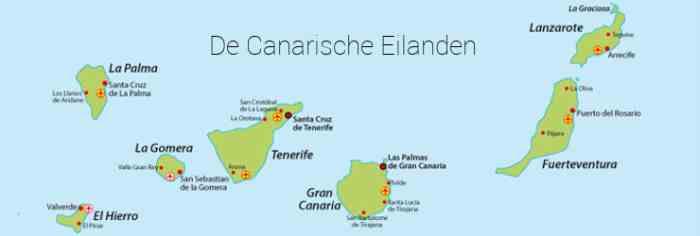 De Canarische Eilanden kaart