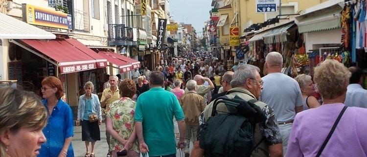 De markt in Malgrat de Mar