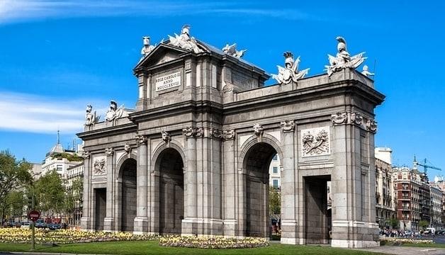Alcala Poort in Madrid