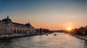 Zonsopgang bij de Seine