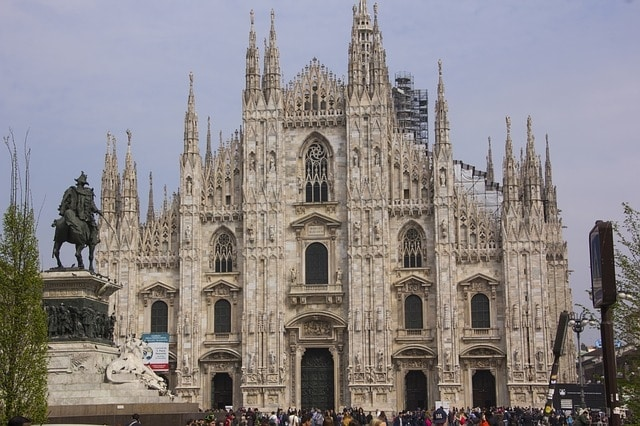 De kathedraal van Milaan