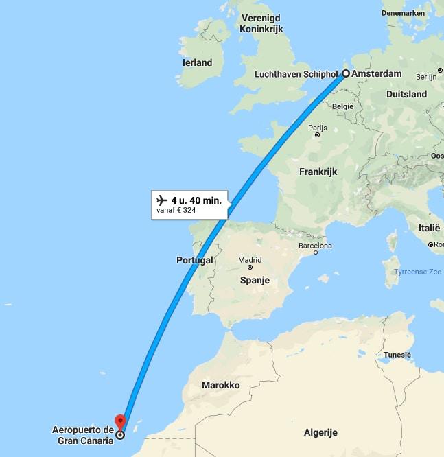 Waar ligt Gran Canaria op de kaart?