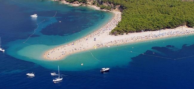 Zlatni Rat Brac in Kroatie strand