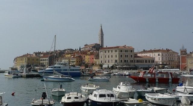 De haven van Pula Kroatië