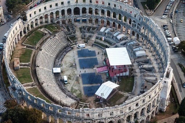 Romeinse Amfitheater in Pula