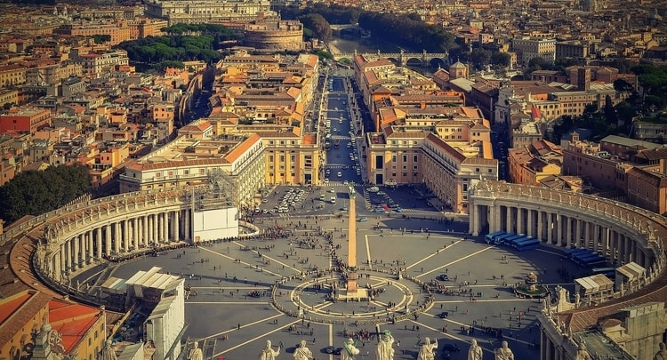 Bovenaanzicht Rome en Vaticaanstad