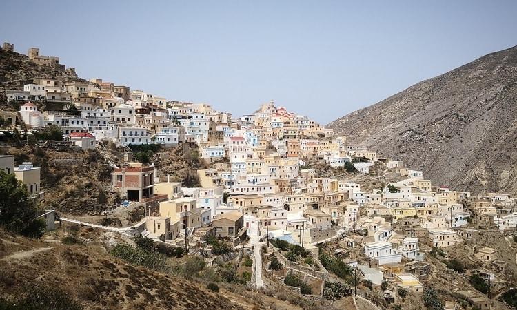 Dorpje Olympos op Karpathos