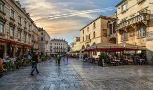 Straten in split Kroatië
