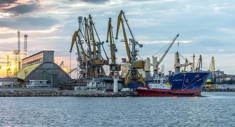 De haven van Burgas