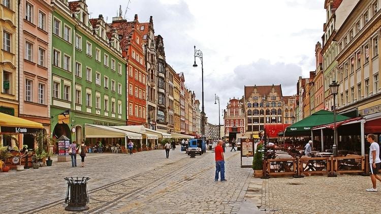 De oude stad Wroclaw