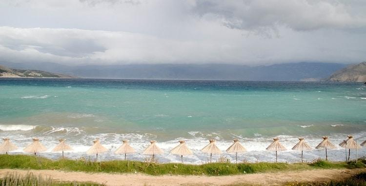Stranden op Krk