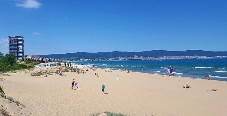 Sunny beach Bulgarije strand