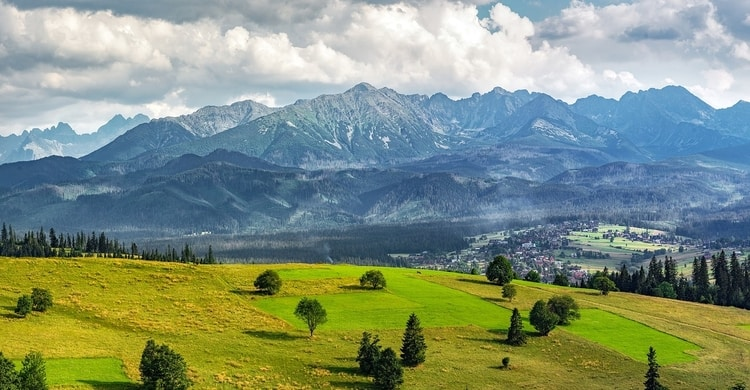 Uitzicht Tatragebergte Polen