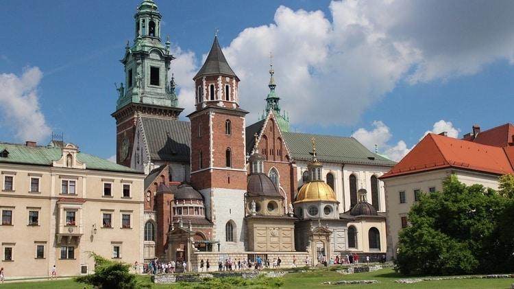 Historische gebouwen bij Wawel