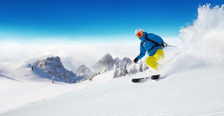 Op wintersport in Italië