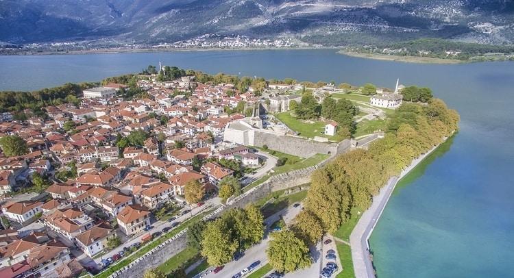 Ioannina-stad gelegen in Epirus