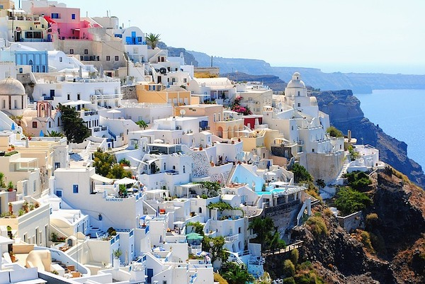 Eiland Santorini in Griekenland