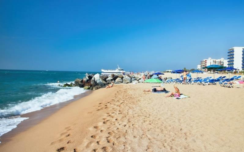 Strand van Santa Susanna en Malgrat de Mar