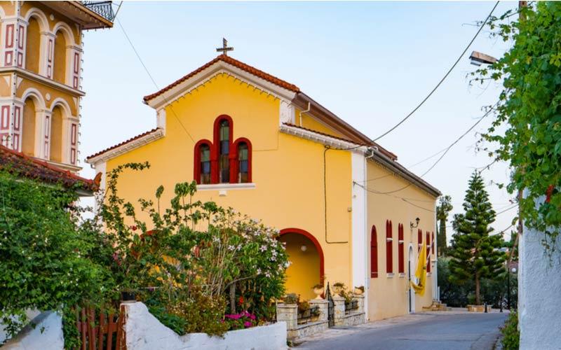 De St Denis kerk in Argassi
