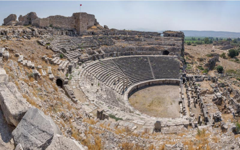 Stad Miletes buiten Didim