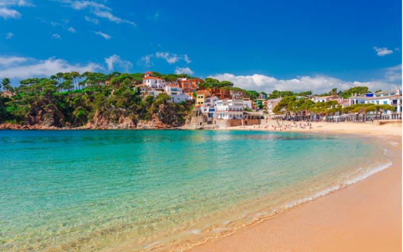 Strand in het centrum van Calella
