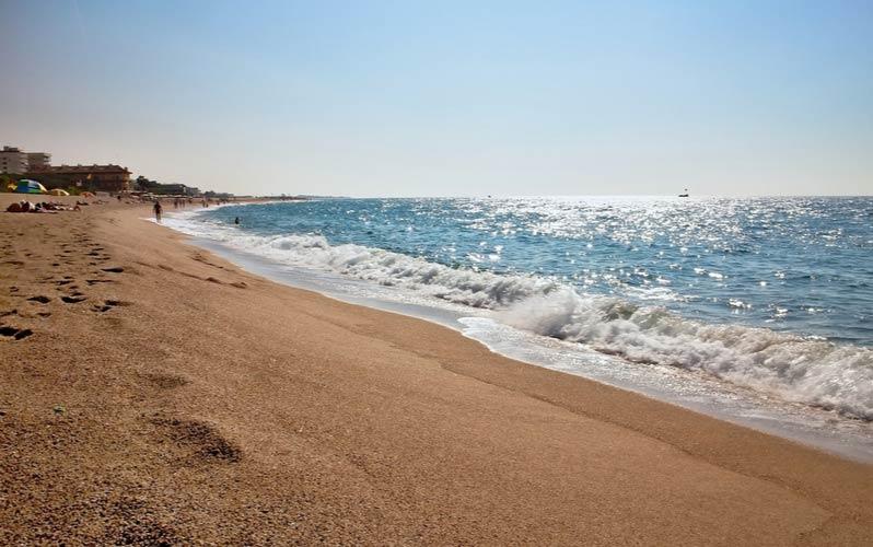 Het strand van Malgrat de Mar