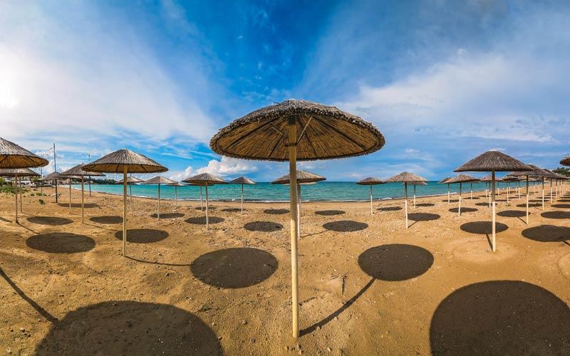 Relaxen op het strand - Tsilivi beach