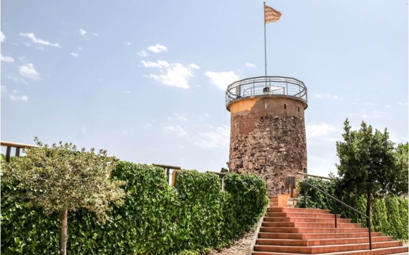 De toren Torre del Castell in Malgrat de Mar