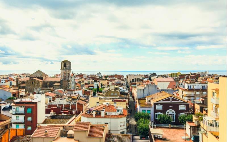 Uitzicht over de stad van Malgrat de Mar