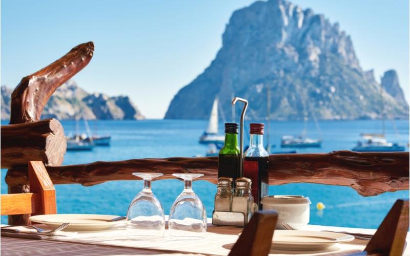 Restaurant met mooi uitzicht in Cala d'Or