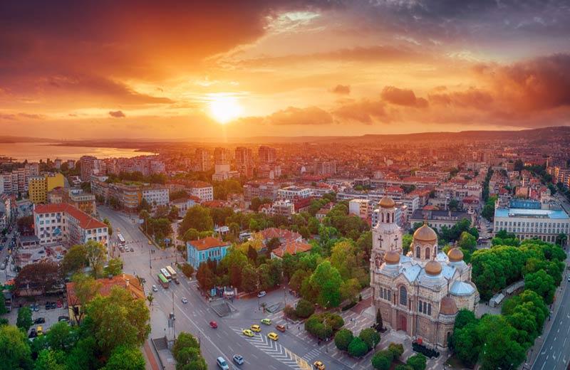 Uitzicht over Varna