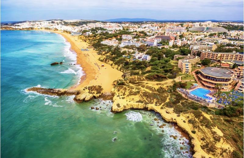 Uitzicht over Albufeira Portugal