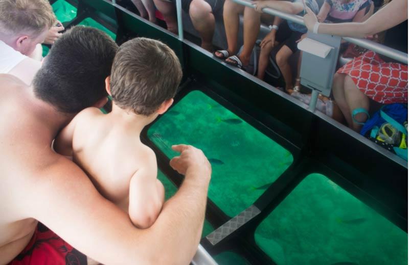 Glasbodemboot in Cala Millor