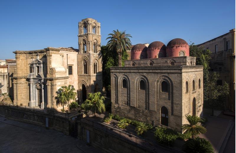 La Martorana kerk in Parlermo Italië