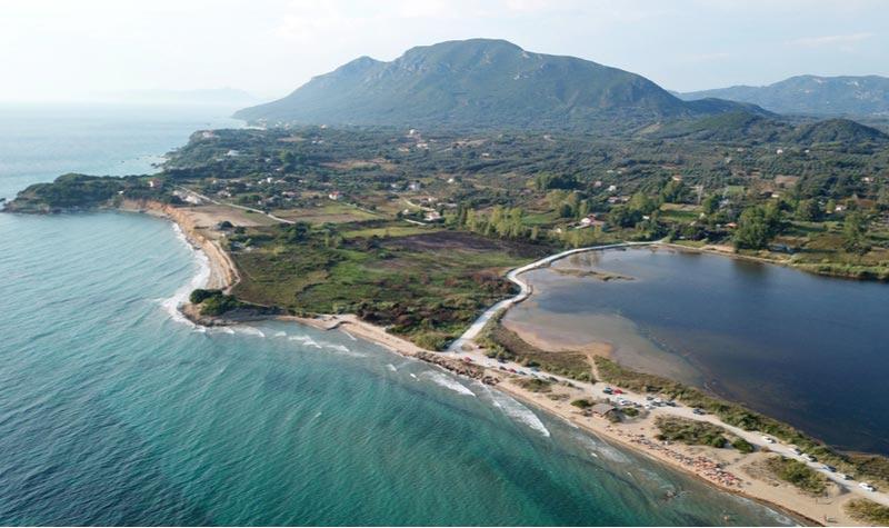 Het Korission meer van Corfu