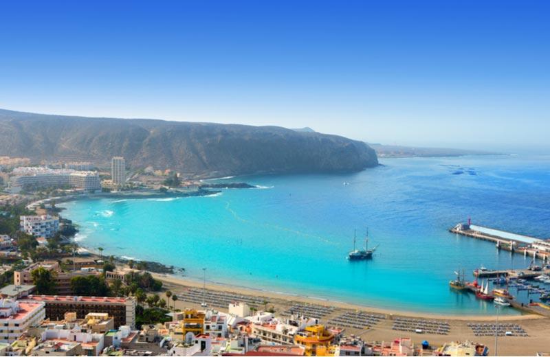 Los Cristianos op Tenerife