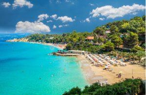 Platis Gialos en Makris Gialos beach op Kefalonia