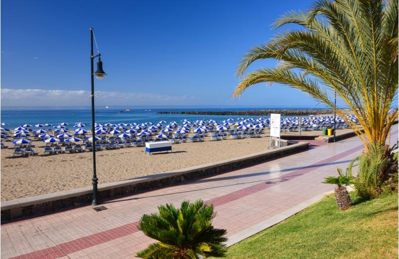 wandelboulevard in Los Cristianos op Tenerife
