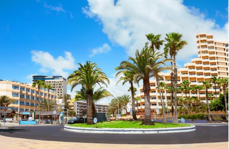 Centrum van Playa del Inglés op Gran Canaria