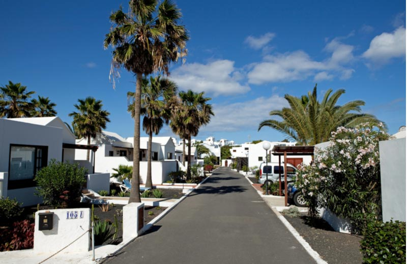 Straat in Costa Teguise