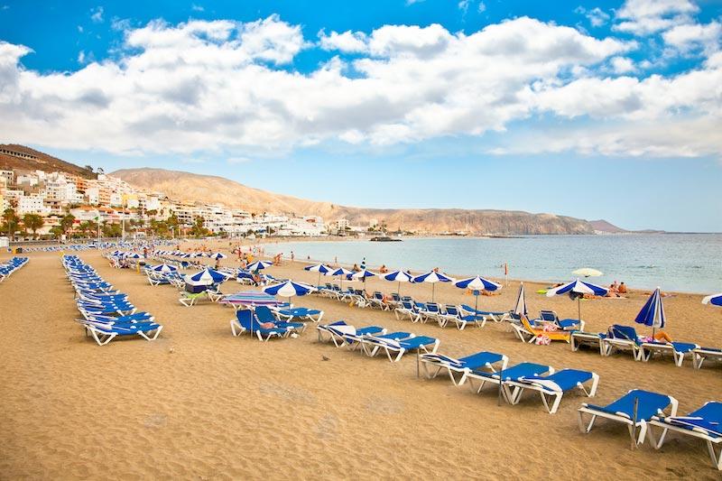Strand van Los Cristianos op Tenerife