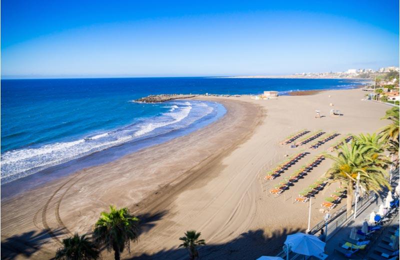 Strand van San Agustín op Gran Canaria