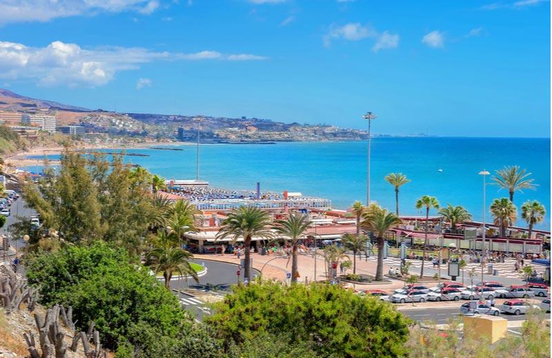 Kuststrook bij Strand Playa del Inglés
