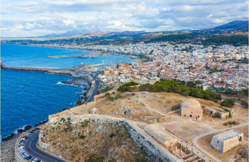 Uitzicht over Rethymnon vanaf Fort Fortezza