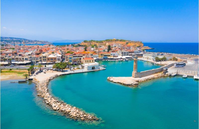 Uitzicht over Rethymnon