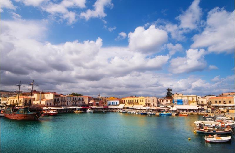Venetiaanse haven van Rethymnon op Kreta