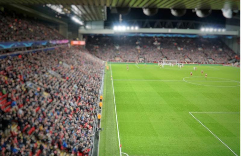 Voetbalwedstrijd van FC Liverpool