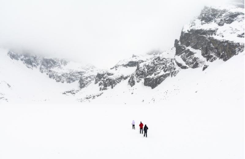 Wintersporten in het Tratra gebergte
