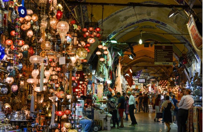 De Grote Bazaar in Istanbul