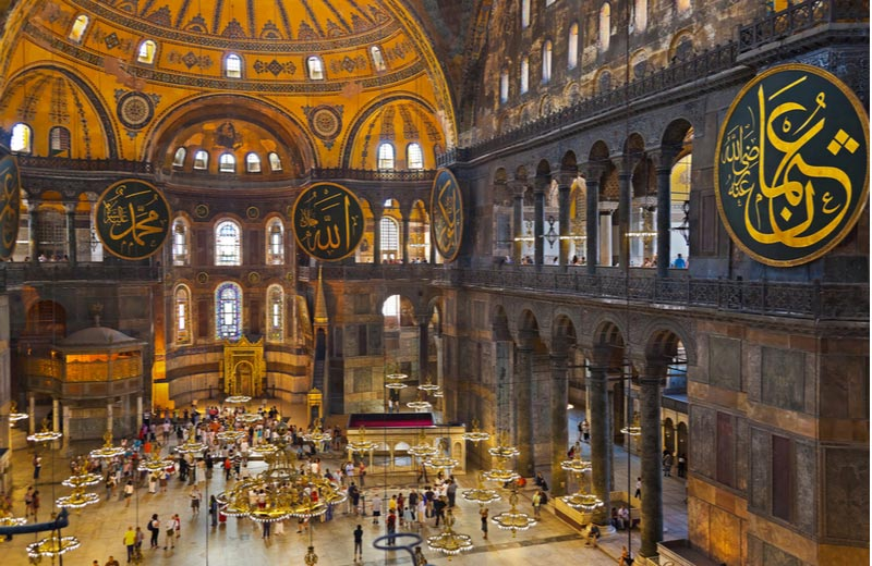 Interieur van Hagia Sophia in Istanbul